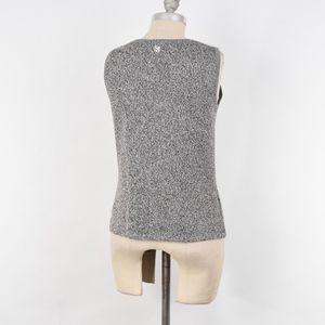 St. John Tops - St. John Marled Yarn Pointelle Knit Sweater Tank